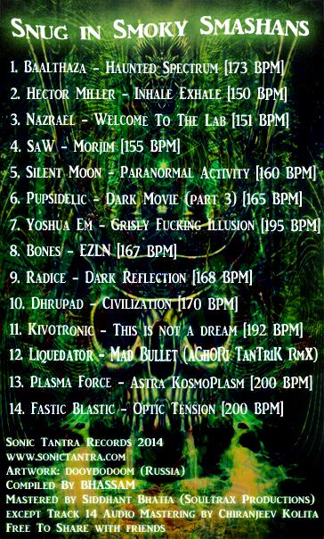 Snug in Smoky Smashan Tracklist & Credits.