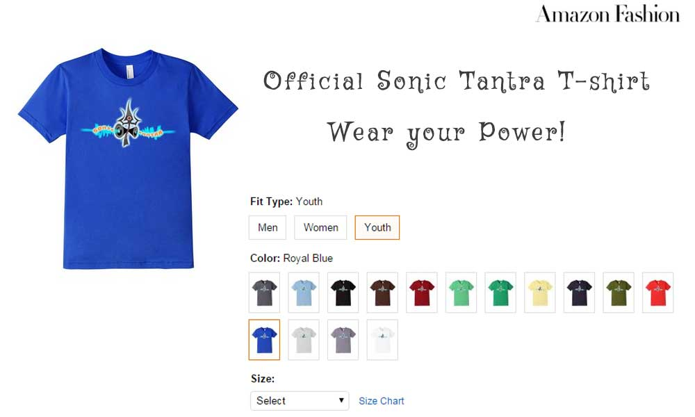 Sonic Tantra Tshirts now available on Amazon with Worldwide Shipping!