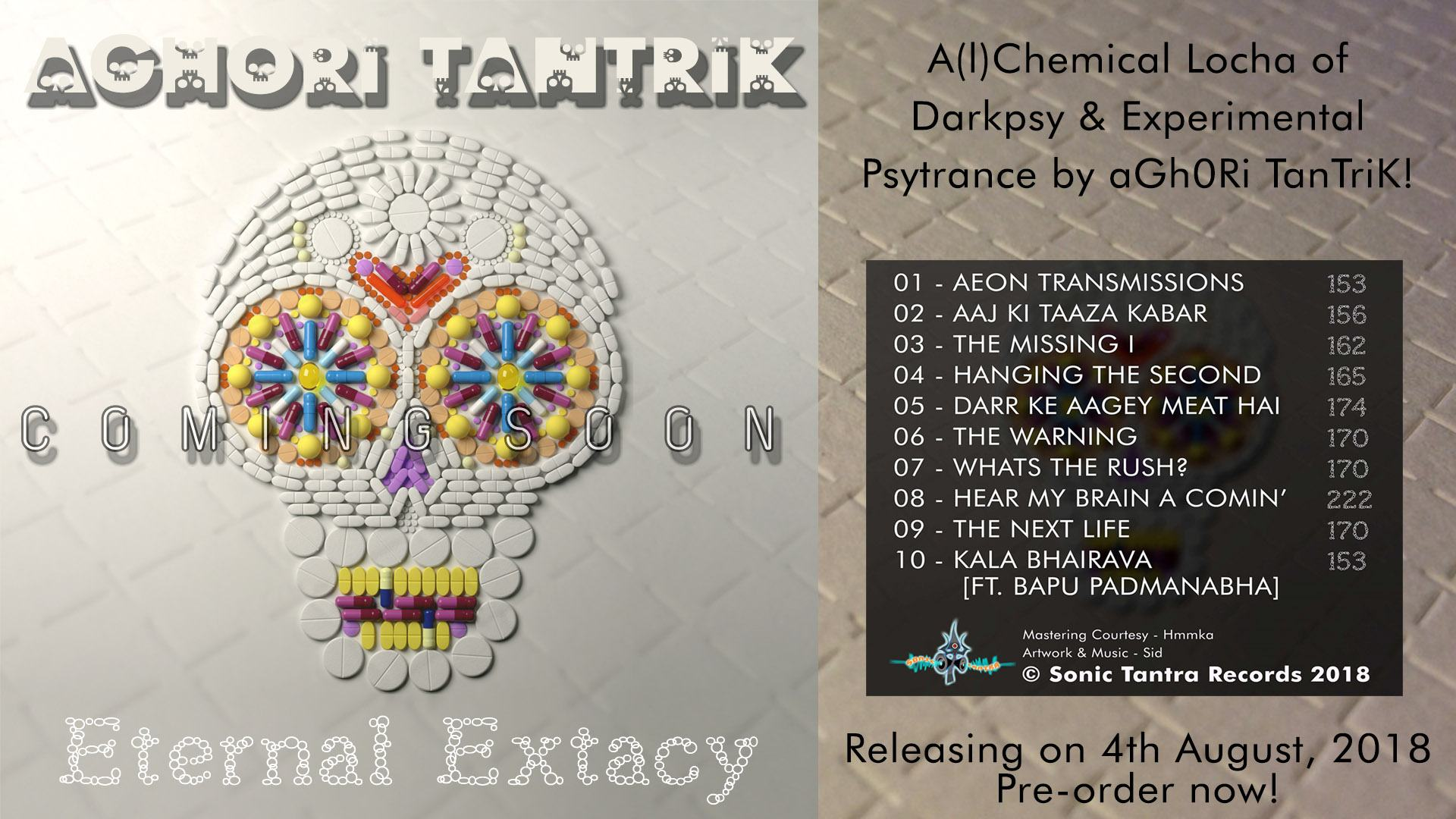 preorder dark psytrance album by aghori tantrik on sonic tantra